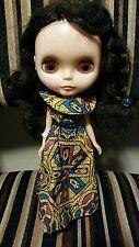 Vintage Kenner 1972 Blythe Brunette doll with original dress & underwear *WORKS*
