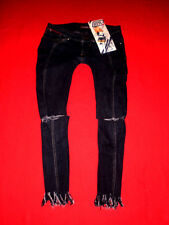KILLAH by MISS SIXTY SKINNYJEANS CROPPEDJEANS RÖHRENJEANS RISSE STRETCH W27 TOP
