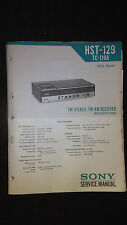Sony hst-129 tc-119a service manual original repair book stereo receiver radio