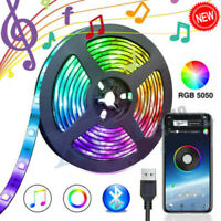 USB LED Light Strip 5050 RGB TV Backlight Bluetooth APP Remote Music String Lamp
