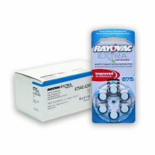 60 Rayovac Extra Mercury Free Hearing Aid Batteries Size: 675