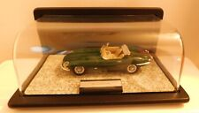 Vintage 61 Jaguar Convertible Type E Die Cast Car with Display Case - Mint