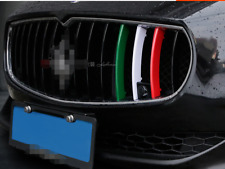 for Maserati Quattroporte 2013- 2016 M-Color Front Grille Cover Trim Stripe 3pcs