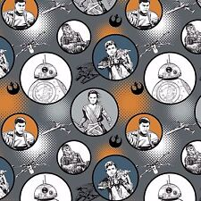 Star Wars The Force Awakens Fabric - Badges - Iron - 100% Cotton