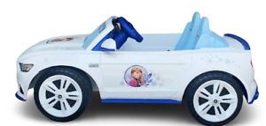 Rare White Mustang 5.0 Power Wheels Disney Frozen 12-V Ride On 2 Songs Car kids