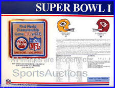 SUPER BOWL 1 Packers / Chiefs 1967 Willabee & Ward OFFICIAL SB I NFL PATCH CARD