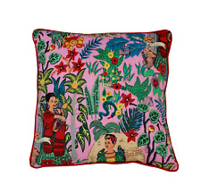 Pink Farida Kahlo Printed Throw Pillow Case Decorative Reversible Cushion Cover