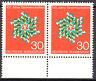 570 postfrisch Paar waagerecht Rand unten BRD Bund Deutschland Jahrgang 1968