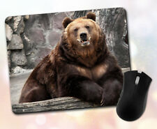 Animals ~ Grizzly Bear, Smiling, Happy, Funny, Cute ~ Vivid Mouse Pad 2