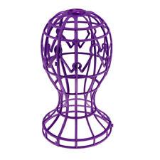 Porta parrucca pieghevole Porta parrucchiere in plastica Rack Purple