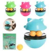 Kitten Tumbler Funny Interactive Food Ball Dispenser Cat Toy Exercise IQ Treat