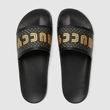 Gucci Women's Sega Star Black Supreme GUCCY Canvas Slide Sandal 519996 7231E