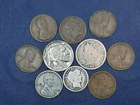 BARBER SILVER DIME STARTER COLLECTION Lot of 10 Vintage US Coins
