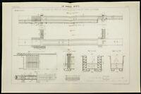 1888 - Plano Antiguo de Una D Auto Bloqueo Del Canal De Panama