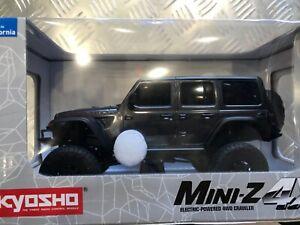 Kyosho MX-01 Mini-Z 4X4 Readyset w/Jeep Wrangler Body White 32521 GUNMETAL