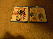 DESPICABLE ME 1 & 2, BLUE RAY/DVD, VG-GREAT SHAPE