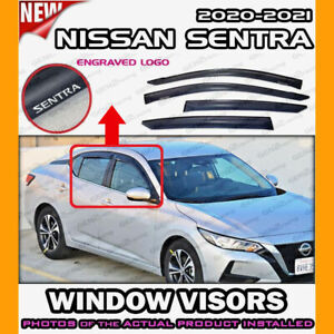 WINDOW VISORS for Nissan 2020 → 2021 Sentra / DEFLECTOR RAIN GUARD VENT SHADE