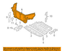 HYUNDAI OEM 13-15 Genesis Coupe-Radiator Core Support Bracket Panel 641012M500