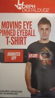 Black Morph DigitalDudz Moving Eyeball T-Shirt Unisex Halloween Adult Medium