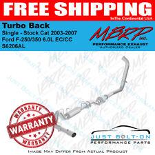 MBRP 2003-2007 Ford F-250/350 6.0L EC/CC Turbo Back Single - Stock Cat S6206AL