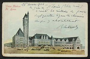 190-TRAINS & RAILROAD -MISSOURI -Union Station St. Louis 1904 (Undivided Back)