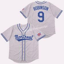 Throwback 80's Montreal Jackie Robinson #9 Baseball Jerseys Stitched Custom Name