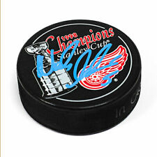 Nicklas Lidstrom Detroit Red Wings Autographed 1998 Stanley Cup Champions Puck
