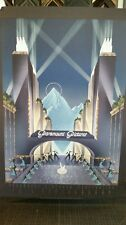 """Art deco 75th anniversary by Robert Hoppe NEW mint condition serigraph 24""""X34"""""""