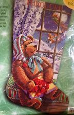 Bucilla 60776 A GIFT FOR SANTA Needlepoint Christmas Stocking Kit ~Sealed ~Rossi