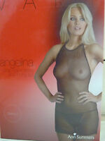 NEW LADIES WOMENS ANN SUMMERS ANGELINA BLACK STRAP BACK DRESS AND THONG SET