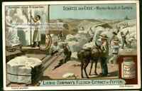 Mining Carrara Marble Quarry Italy Artist Statue 1900 Trade Ad Card
