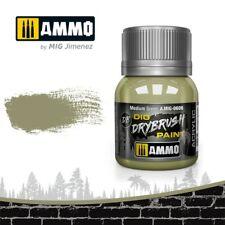 Ammo by Mig 40ml Medium Green Dio Drybrush Acrylic Paint # MIG-0606