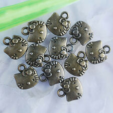 Ed2921 20Pcs Antiqued bronze color hello kitty design charms