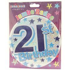21st Boy Male Birthday Jumbo Badge  (BA5037)