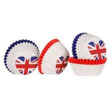 100 Paper Cake Cup Liners Baking Union Jack Cupcake Cases Muffin Cake Holders