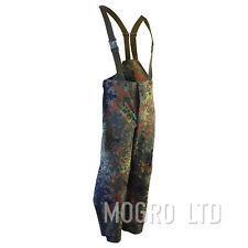 Genuine German Army Waterproof Trousers (Goretex) Bib and Brace Flecktarn Camo