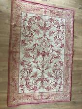 LAURA ASHLEY Malamsion Vintage Wool & Cotton Rug Used 110cm x 165cm
