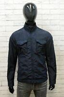 Woolrich Giacca da Uomo Taglia L Jacket Man Cappotto Corto Blu Giubbotto Cotone