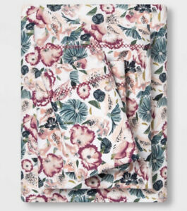 OPALHOUSE  Printed Cotton Percale Sheet Set King Floral New