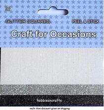 MÉTIER POUR OCCASIONS Peel & Stick paillettes carrés Pack de 3 Blanc