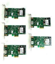 Lot of 5 - Dell Broadcom 8VP82 KVCX1 Low Profile Wireless PCI-E WiFi Card