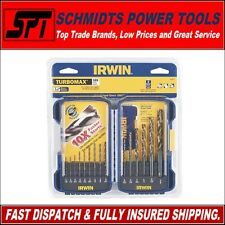 IRWIN 318015 15 PIECE TURBO MAX DRILL BIT SET IMPERIAL SET WITH CASE - NEW