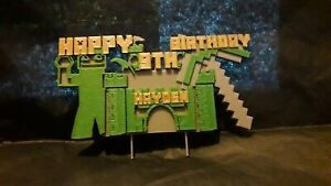 3D Printed Inspired Minecraft Personalised Cake Topper