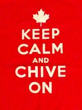 Authentic KCCO Keep Calm and Chive On Canada Day Canadian Red T Shirt Medium