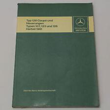 Mercedes C126 Coupe Einführungsschrift + Neuerungen R107 W123 W126 Ausgabe 1981