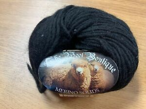 CLEARANCE SALE* 100% MERINO WOOL (also for felting)  70m x 50g  Black