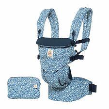 Ergobaby Carrier, Omni 360 todas las posiciones de transporte, portador de bebé azul margaritas
