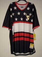 Nwt Men'S 4X Huge Exchange Multi-Color Bull Ss V-Neck Jersey Shirt $36 #1624