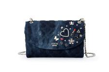 Brand New Darin Convertible Jean Crossbody/Shoulder Flap Bag NWT VG668521