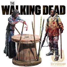 McFarlane Walking Dead TV Series 8 - MORGAN & SPIKE TRAP Deluxe Set - IN STOCK!